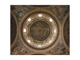 Frescoed Dome Giclée-tryk af Giovanni Lanfranco