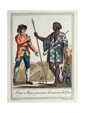 Negro Governor of the Gorée District, 1796 Giclee Print by Jacques Grasset de Saint-Sauveur