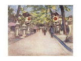 An Avenue of Lanterns Giclee Print by Mortimer Ludington Menpes