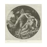 Flora and Zephyr Lámina giclée por Bouguereau, William Adolphe