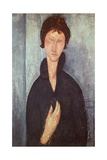 Woman with Blue Eyes, 1918 Giclee Print by Amedeo Modigliani
