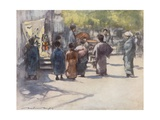 In Front of the Stall Giclee Print by Mortimer Ludington Menpes