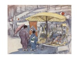 The Stall by the Bridge Giclee Print by Mortimer Ludington Menpes