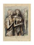 Minerva, Prometheus and Pandora Gicléetryck av Henry Moore
