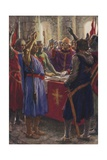 The Oath of the English Barons, 1214 Giclee Print by Arthur C. Michael