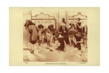 Women Trying on Shoes in a Shoe Shop Giclee Print by Albert Guillaume