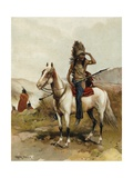 A Sioux Indian Chief Giclee Print by Frank Feller