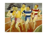 The Runners, C.1924 Giclée-tryk af Robert Delaunay