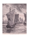 Anlaf Entering the Humber Ad 937 Giclee Print by Henry Marriott Paget