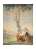 Figure of Peasant Giclee Print by Giambattista Tiepolo
