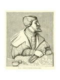 Alabaster Bas-Relief of the Emperor Charles V Giclee Print