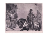 Pier Gaveston before the Earl of Warwick Ad 1312 Giclee Print by Gordon Frederick Browne