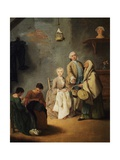 Embroidery Workshop Giclee Print by Pietro Longhi