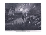 Mob Burning a Farm in Kent in 1830 Giclee Print by Paul Hardy