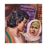 Joseph with the Wife of Potiphar Giclee Print by Pat Nicolle