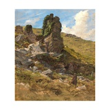 A Rocky Outcrop Giclee Print by Arthur Hughes
