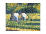 Farmers at Work, 1882 Giclee Print by Georges Seurat