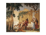 Peasant Family at Table Giclee Print by Giandomenico Tiepolo