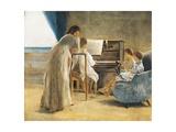 Piano Lesson, 1866-1867 Giclee Print by Adriano Cecioni
