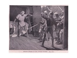 Richard Assailed by the Austrian Soldiers Ad 1192 Giclee Print by Gordon Frederick Browne