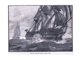 British Line of Battle Ships Ad 1836 Giclee Print by William Heysham Overend
