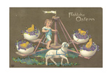 Easter Greetings Card Impression giclée