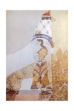 Female Figure, Akrotiri Fresco, Thera Giclee Print