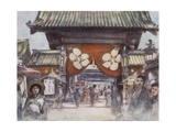 Leading to the Temple Giclee Print by Mortimer Ludington Menpes