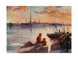 The Palace Quay of the Neva Giclee Print by Frederic De Haenen