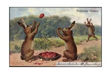 Easter Greetings Card, 1903 Giclee Print
