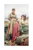 Lover and His Lass, 1884 Giclee Print by Walter Langley