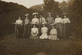 Group of Women on a Cycling Trip Photographic Print