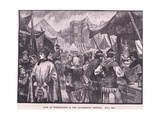 Fair at Westminster in Fourteenth Century Giclee Print by Henry Marriott Paget