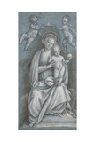 The Madonna and Child Crowned by Two Angels Giclee Print by Bernardino Lanino