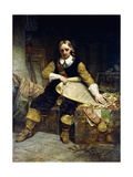 Oliver Cromwell, 1867 Giclee Print by Emanuel Leutze