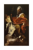 St Athanasius Giclee Print by Francesco Solimena