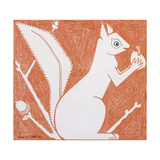 Squirrel Giclee Print by Grant Wood