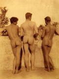 Study of Three Male Nudes, Sicily, C.1900 Photographic Print by Wilhelm Von Gloeden
