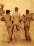 Study of Three Male Nudes, Sicily, C.1900 Photographic Print by Wilhelm Von Gloeden
