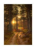 The Sun Fast Sinks in the West Giclée-Druck von Joseph Farquharson