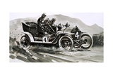 A 1906 Rolls-Royce Competition Car Giclee Print by Graham Coton