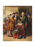 Choosing the Wedding Gown Giclee Print by William Mulready