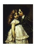 Two Cousins Giclee Print by Tranquillo Cremona