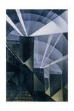 The First Searchlights at Charing Cross, 1914 Giclee Print by Christopher Richard Wynne Nevinson