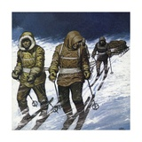 Treck to the Pole Giclee Print by Mike White