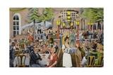 Beer Hall Scene, Germany Impressão giclée