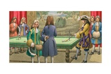 Billiards, as Played by Louis XIV at Versailles Giclee Print by Pat Nicolle
