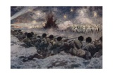 A Night Attack by the Germans at Grodno Giclee Print by Arthur C. Michael