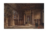 The King's Robing Room, Houses of Parliament Giclee Print by Charles Edwin Flower