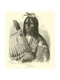 Cree Chief Giclee Print by Emile Antoine Bayard